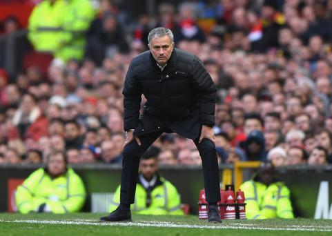 Off the pace: Jose Mourinho just can't get Manchester United up to speed in the Premier League