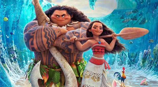 Solid gold: Maui (Dwayne Johnson) and Moana (Auli'i Cravalho)