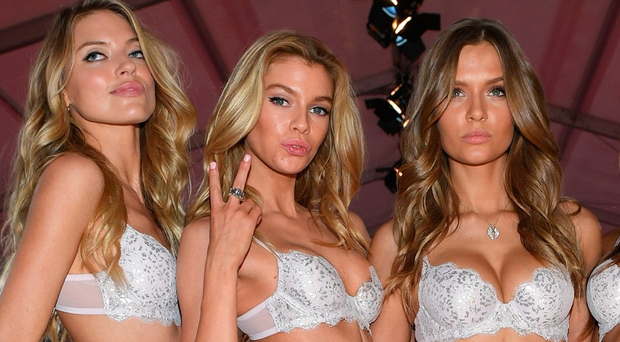 (L-R) Martha Hunt, Stella Maxwell,Josephine Skriver and Jasmine Tookes pose prior the 2016 Victoria's Secret Fashion Show on November 30, 2016 in Paris, France. (Photo by Dimitrios Kambouris/Getty Images for Victoria's Secret)