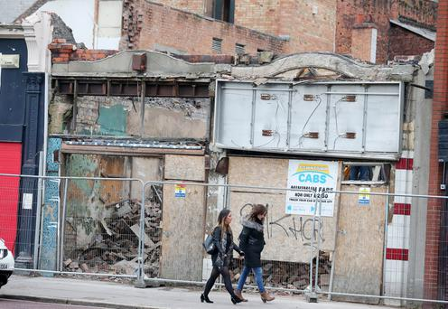 General views of demolition on North Street in Belfast City Centre. Picture by Jonathan Porter/Press Eye