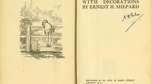 A First Edition of The House at Pooh Corner, by A.A. Milne (1928) will also go under the hammer