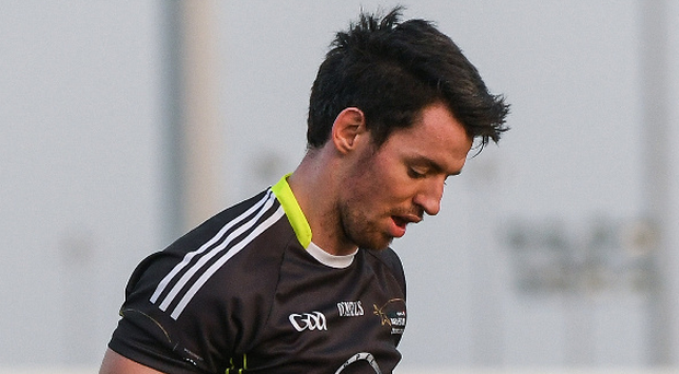 Sweat and tears: Matthew Donnelly was black carded against Donegal