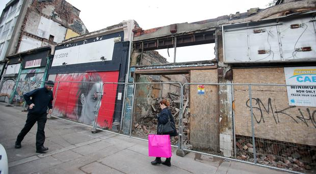 Outrage over demolition of old buildings in city centre