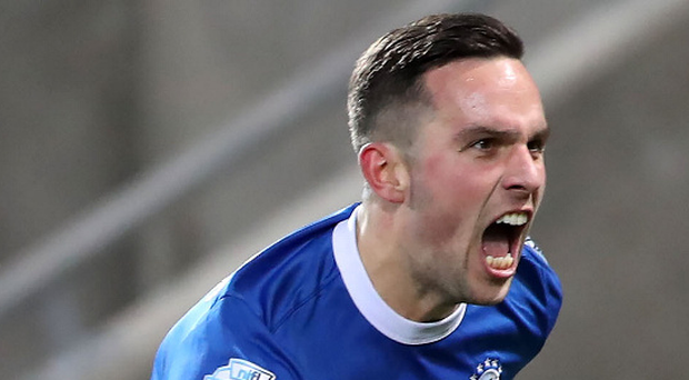 On song: After struggling to find the net at the start of the season, Linfield striker Andrew Waterworth has notched eight goals in his last 11 games