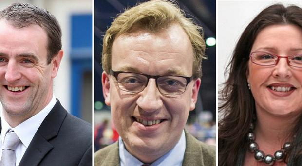 Mark H Durkan, Christopher Stalford and Kellie Armstrong