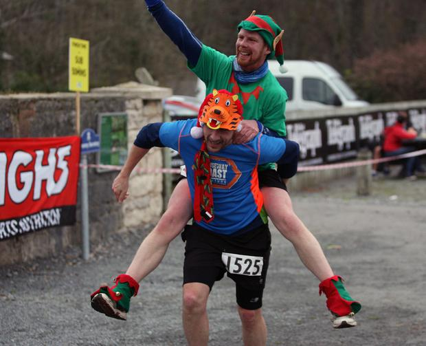 Mandatory Credit - Picture by Freddie Parkinson/Press Eye © Saturday 3rd December 2016 Belfast Telegraph Run Forest Run Loughgall. Loughgall Country Park, 11-14 Main Street, Loughgall, Armagh. Red Odgers 10K Tandragee Jonnie Odgers 10K Portadown