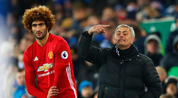 Turning point: Jose Mourinho sends on Marouane Fellaini