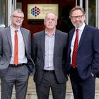 Pictured from right is Mark Gibson, Business Development Manager for NI Direct at BT Business in Northern Ireland; Shaun McCann, Head of Business Transformation, Access NI and; Tom Clarke, General Manager, Access NI