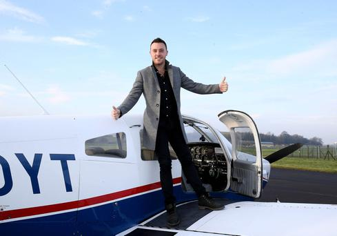 Nathan Carter pictured at the launch of the Festival at Enniskillen airport Picture by Andrew Paton/Press Eye