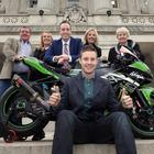 Jonathan Rea honoured at Stormont with a special reception hosted by Communities Minister, Paul Givan, MLA to mark his achievement. Joining Jonathan were his father Johnny, wife Tatia, mother Claire and grand mother Naomi. Photo: Stephen Davison