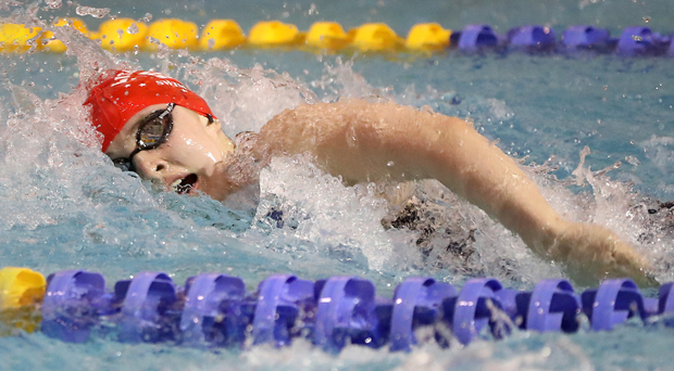 Gold rush: Rachel Bethel on way to winning 200m freestyle at Irish championships in Lisburn