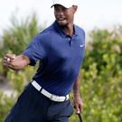 Tiger feat: Tiger Woods had mixed fortunes at his comeback event, the Hero World Challenge in the Bahamas at weekend