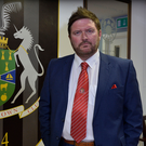 In the hotseat: New Portadown manager Niall Currie at Shamrock Park last night