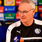 Upbeat: Leicester manager Claudio Ranieri yesterday