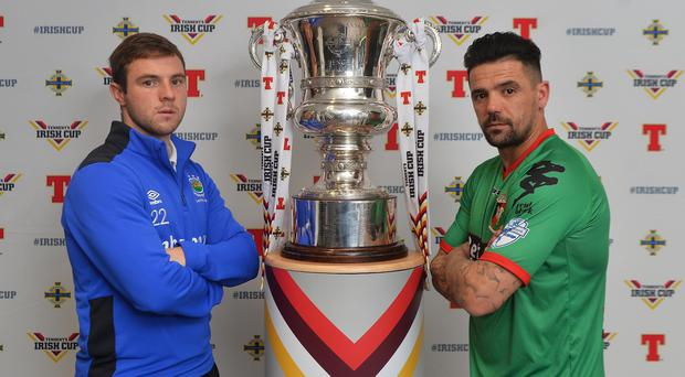Derby date: Jamie Mulgrew and Nacho Novo will go head to head on Irish Cup fifth round day
