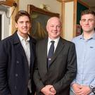 Olympic dreams: Ryan Seaton (left) and Seafra Guilfoyle (right) with Stephen O'Shaughnessy of Royal Cork Yacht Club