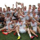 What a feeling: Tyrone celebrate their first Ulster Championship success in six years. Photo: Lorraine O'Sullivan/INPHO