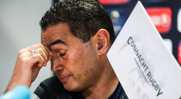 Emotional: Pat Lam is leaving Connacht to take over at Bristol