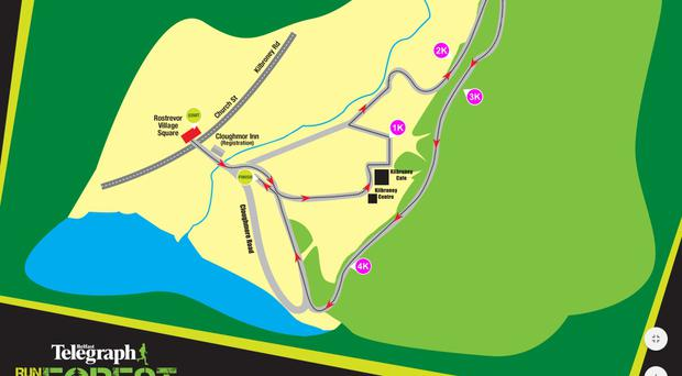 Kilbroney 5k route