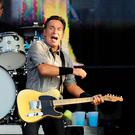 Boss man: Springsteen performing at the King's Hall in 2013