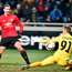 Goal king: Zlatan Ibrahimovic scores Manchester United's second goal against Zorya Luhansk