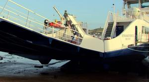 The new ferry requires alterations in order to enter service. Pic BBC
