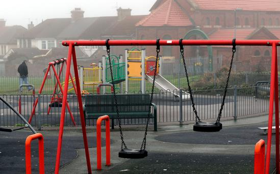 File photo dated 19/01/2010 of a children's playground in Edlington, close to where a horrific attack on two children took place, as a judge is being asked to give indefinite anonymity to the two brothers who tortured the two young boys in a bout of
