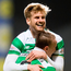 Out in front: Celtic aces Stuart Armstrong and Leigh Griffiths celebrate moving 11 points clear at the top of the Premiership