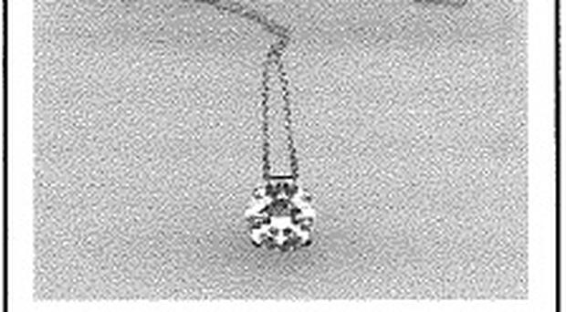 A diamond necklace stolen from a house in the Holywood area (PSNI handout)