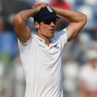 Questions: Alastair Cook in Mumbai yesterday