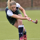On the attack: Emma Kernohan drives forward