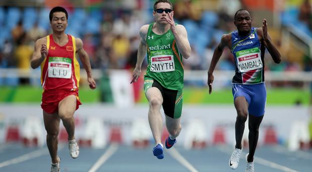 Golden boy: Jason Smyth powers to gold medal success at the Rio Paralympics
