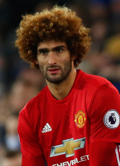 Jeers: Marouane Fellaini was targeted by some United fans