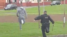 UDA man Dee Coleman runs from the police in the Shankill estate before being arrested in 2016