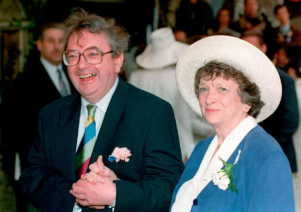 File photo dated 12/12/2016 of Ian McCaskill and wife Pat as the former weather forecaster has died aged 78, the BBC confirmed. PA