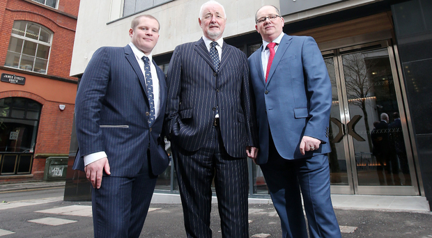 Chris Kearney, Tourism NI chief Terence Brannigan and Stephen Carson at Belfast's Ten Square Hotel