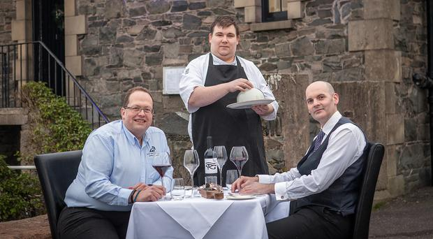 The Boat House owner Ken Sharp, head chef Tim Brunton and manager Jonathan Quinn