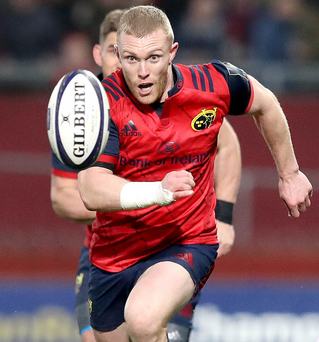 Red mist: Keith Earls was dismissed for a tip tackle in October