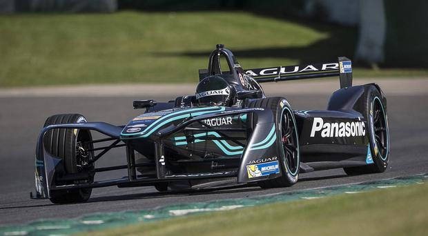 New challenge: Ulsterman Adam Carroll is getting to grips with the Formula E series and the all-electric i-Type Jaguar