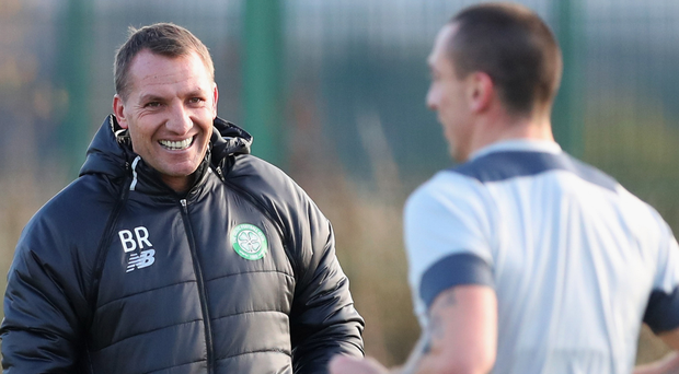 Making an impact: Brendan Rodgers has brought Celtic to the top of the Premiership table and already lifted the Betfred Cup since taking over in the summer