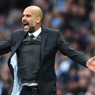 Sticking to his guns: Manager Pep Guardiola has insisted he won't attempt to play a style of football he doesn't believe in while trying to get struggling Manchester City back on track