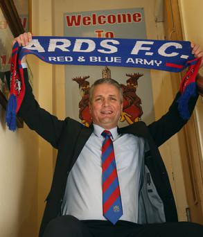 In charge: Colin Nixon is unveiled as the new Ards manager