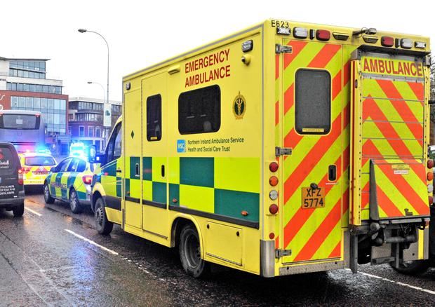 A car and a bus carrying young children on a trip to see Santa were involved in a collision in Belfast.
