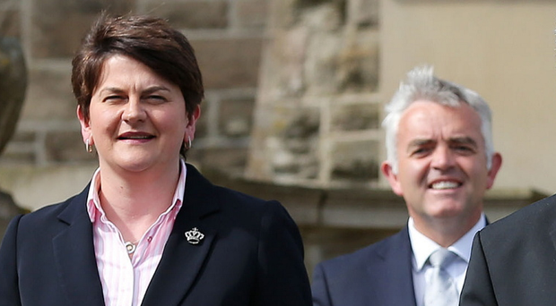 Northern Ireland First Minister Arlene Foster and Jonathan Bell in more harmonious times at Stormont Castle