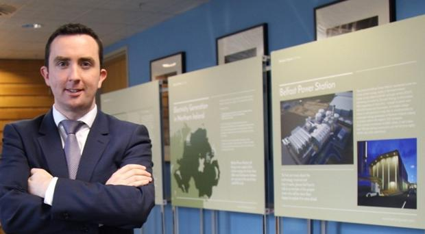 Ciaran Devine, director of Belfast Power Ltd, at the public consultation in Belfast Metropolitan College yesterday