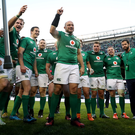 Main man: Rory Best celebrates leading Ireland to their first victory over New Zealand. Photo: Billy Stickland/INPHO