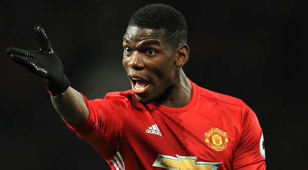 Taking control: Paul Pogba is driving Manchester United towards the Champions League. Photo: Richard Heathcote/Getty Images