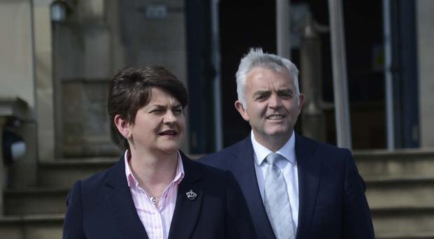 First Minister Arlene Foster with Jonathan Bell, whose tell-all over RHI scandal could rock the DUP