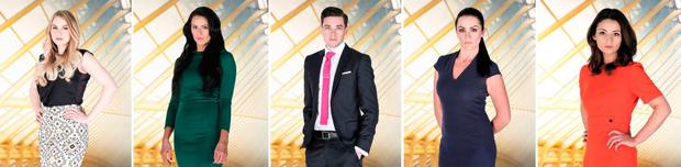 Last five candidates in this year's on BBC's The Apprentice (left to right) Alana Spencer, Jessica Cunningham, Courtney Wood, Grainne McCoy and Frances Bishop. PA