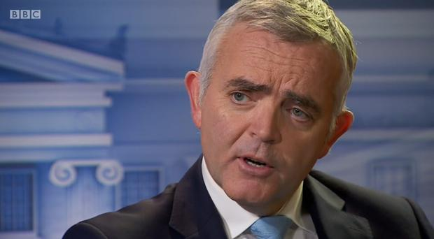 Jonathan Bell speaks to Stephen Nolan about the Renewable Heat Incentive scheme. Image courtesy of BBC Northern Ireland